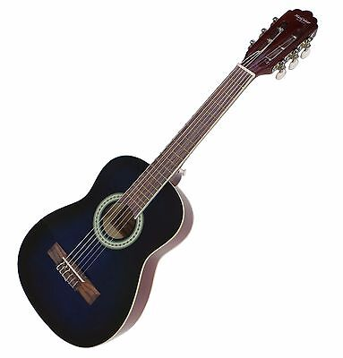 Kids Classical Guitar Blue acoustic Pack half size 30 inch Child Right-Handed