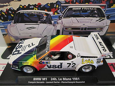 Fly 88322 Bmw M1 #72 Le Mans 1981 1/32 Slot Car Scalextric Compatable