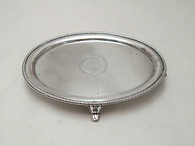 A Fine Old Sheffield Plated Card Tray with Silver Cartouche - c1800