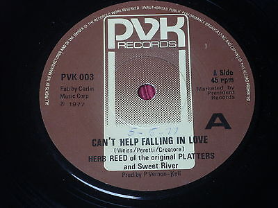"""Herb Reed:   Can't Help Falling In Love   UK  EX   7"""""""
