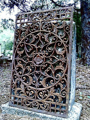 New Orleans Cast Iron Grate #7 French Vent Victorian Fence Gate Floor Door Mat