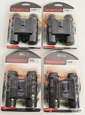 Lot of 4 Tasco Essentials Compact Black Binoculars NEW
