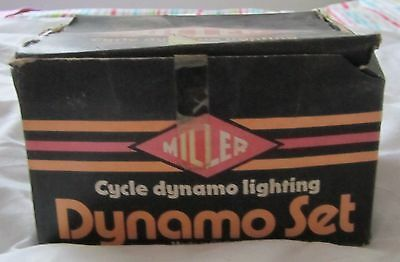 Vintage Miller Cycle Dynamo Lighting Set In original Box