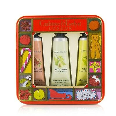 Crabtree & Evelyn Fruit And Botanicals Hand Therapy Tin Set 3x25g Womens Skin