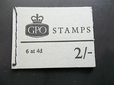Np33 January 1969 Complete 2/- Pre Decimal Machin Gb Stitched Stamp Booklet