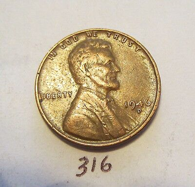 1946-D Lincoln Wheat Cent / Penny Us Coin 1C