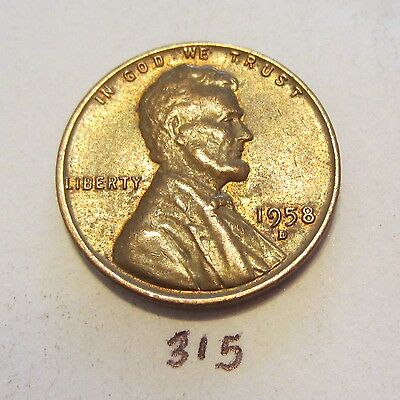 1958-D Lincoln Wheat Cent / Penny Us Coin 1C
