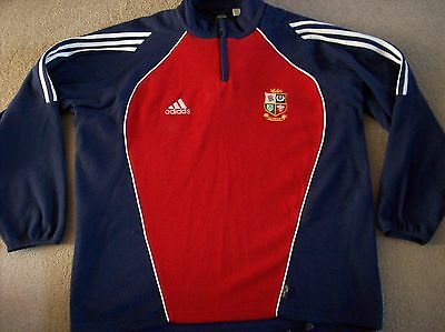 British Lions Rugby Fleece Jacket Top 2005 (42/44 Large) Adidas