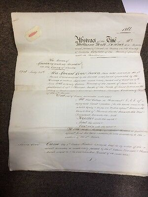 1866 Abstract Of Title Land At Weston Spalding Huge Old Document