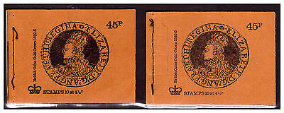 GB 1974 DS1/DS2 British Coins Series Stitched Stamp Booklets (SEPT/DEC). #643