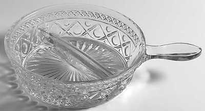 Imperial Glass Ohio CAPE COD CLEAR (#1602 & #160) Divided Spider Bowl 236626