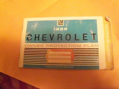 1966 Chevrolet Owner Protection Plan Booklet
