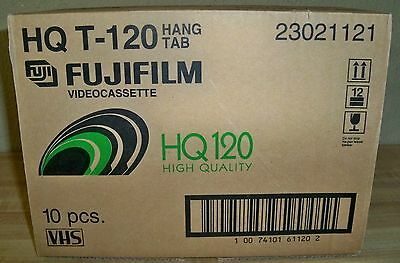 (K) 10pk. FUJIFILM 6 Hours (EP) High Quality HQ T-120 Blank VHS Video Tapes--NEW
