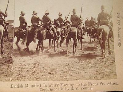 British Mounted Infantry Moving to front S. Africa Boer War 1900 Stereoview