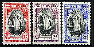 TONGA 1938 Queen Salote 20th. Accession Anniversary Set SG 71 to SG 73 MINT