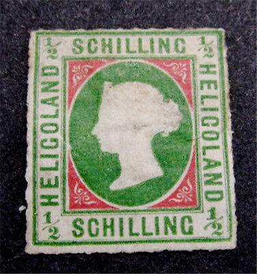 nystamps British Heligoland Stamp # 1A Mint with Gum H $800