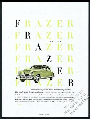 1949 Paul Rand modern graphic design art Frazer Manhattan car vintage print ad 2