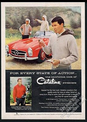 1958 Mercedes-Benz 300SL 300 SL Roadster red car photo Catalina sweater ad