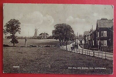 Postcard POSTED 1923 OLD MILL & BOSTAL HILL WHITSTABLE KENT