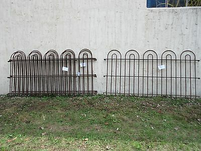 24 foot Antique Hair Pin Iron Fence Fencing Architechural Salvage 4 Sections  C