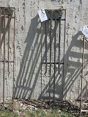 Antique Victorian Iron Gate Window Garden Fence Architectural Salvage Door #409