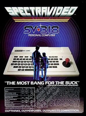 1983 Spectravideo SV-318 computer photo vintage print ad