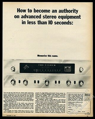 1962 Fisher Multiplex stereo tuner photo Hi Fi vintage print ad