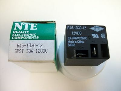 NTE Relay R45-1D30-12 - 12VDC SPST-NO 30A - New in box