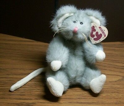 1993 TY COLLECTIBLES,  Attic Treasures SQUEAKY  Mouse with tags, jointed