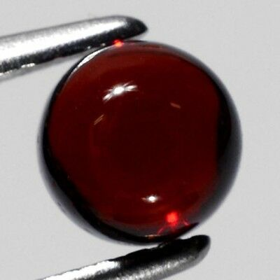 10mm ROUND CABOCHON-CUT DEEP PURPLE/RED NATURAL ALMANDITE GARNET GEMSTONE £1 NR!