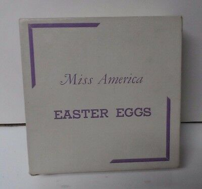 Vintage MISS AMERICA Brand Easter Egg Candy Box - Voneiff Drayer Co Baltimore