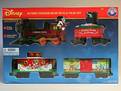 LIONEL LARGE SCALE MICKEY MOUSE EXPRESS READY TO PLAY TRAIN SET steam 7-11773