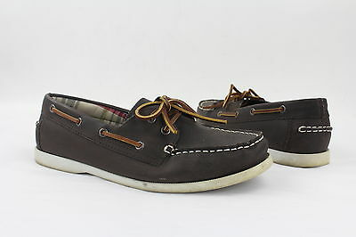 Bass Regatta Brown Slip On Boat Shoes Womens Size 9.5M Pre Owned
