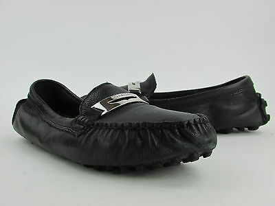 Coach Nola Black Leather Casual Loafer Flat Womens Size 6M Pre Owned