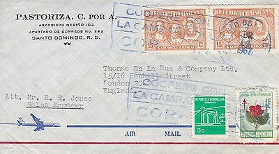 Dominican Rep. 1967 Commercial Air Cover To London