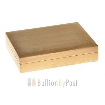 Large Oak Gift Box - 10 x Gold Sovereigns