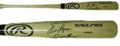 Red Sox Outfield (Rice, Lynn & Evans) Autographed/signed Blonde Bat 19124 Jsa