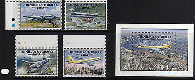 Trinidad And Tobago Bwia Air Set And Ms Fine Um/mnh