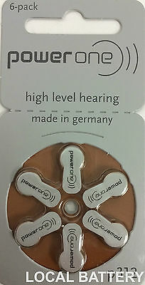 60 Power One Hearing Aid Batteries, SIZE 312, FREE USA SHIPPING!