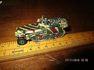 Boxed 1/72 solid lead / white metal WW2 German Hanomag Half Track - painted (1)