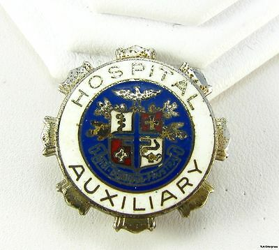 HOSPITAL AUXILIARY Medical Service Sterling Silver PIN