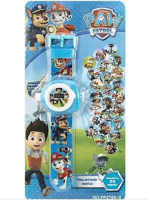 PAW PATROL Digital Projection Watch 3D Kids Wristwatch Toy Gift Boxed 24Patterns