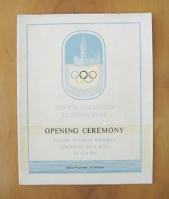 1948 London Olympics Official Opening Ceremony Programme *Excellent Condition*