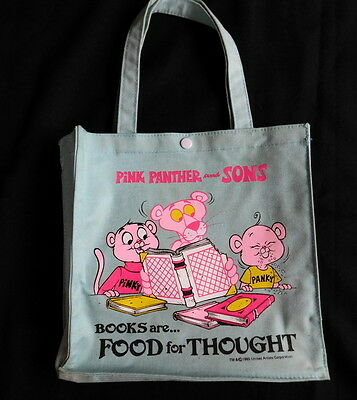 Vintage Pink Panther and Sons Kids Tote Book Bag 1985 United Artisit Corporation
