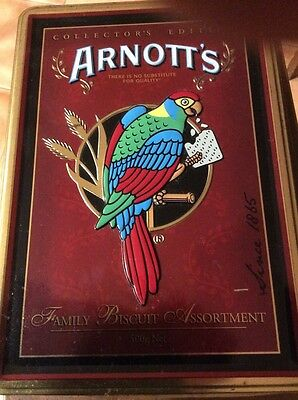 Arnott's Arnotts Legacy Collectors Edition Tin Used Empty 2008 Collectable