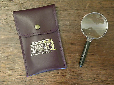 Souvenir from W.I. Denman College Magnifier in Case (Plastic Magnifying Glass)