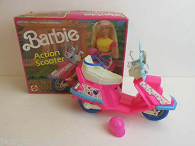 rare BOXED vintage BARBIE DOLL ACTION SCOOTER complete MATTEL 1990