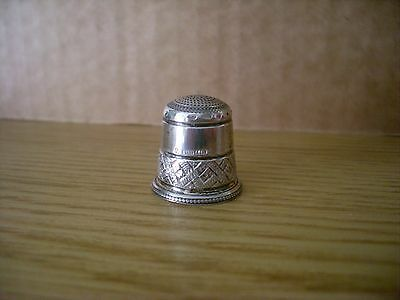 Silver Thimble  Swann  Birmingham 1989 Collectors Guild Nice Example