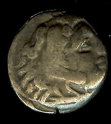 Alexander Iii The Great 336-323 Bc. Silver Drachm -Zeus With Eagle - Nearly Xf