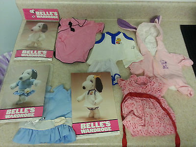 SNOOPY SISTER BELLE plush Vintage Doll Outfit LOT Clothes PEANUTS dress bunny